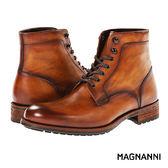 【MAGNANNI】簡約經典紳士皮靴 棕色(15248-COG)
