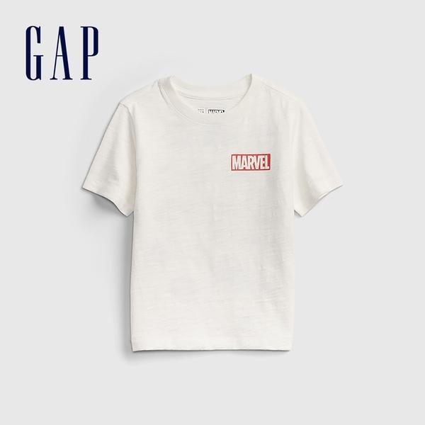 Gap男幼童 Gap x Marvel 漫威系列純棉短袖T恤 687878-白色