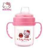 Hello Kitty 寶寶第二階段喝水訓練杯 矽膠吸管 安全無毒 雙耳設計好抓握【成長天地】