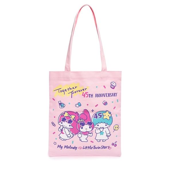 Sanrio 美樂蒂&KIKI LALA 45週年系列 帆布袋 粉_RD00735