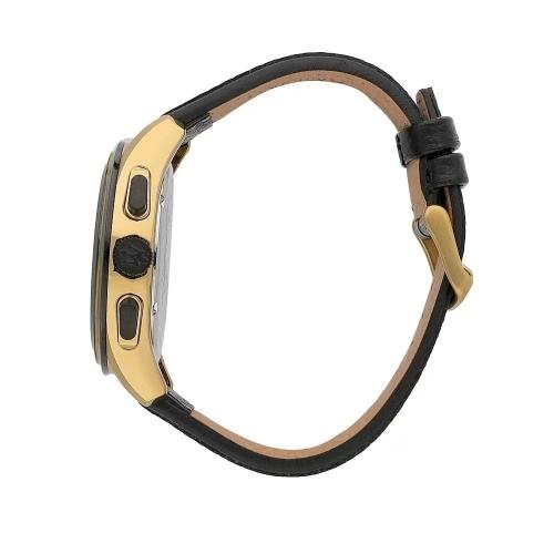 MASERATI 瑪莎拉蒂 經典黑金計時皮帶腕錶45mm(R8871612033)