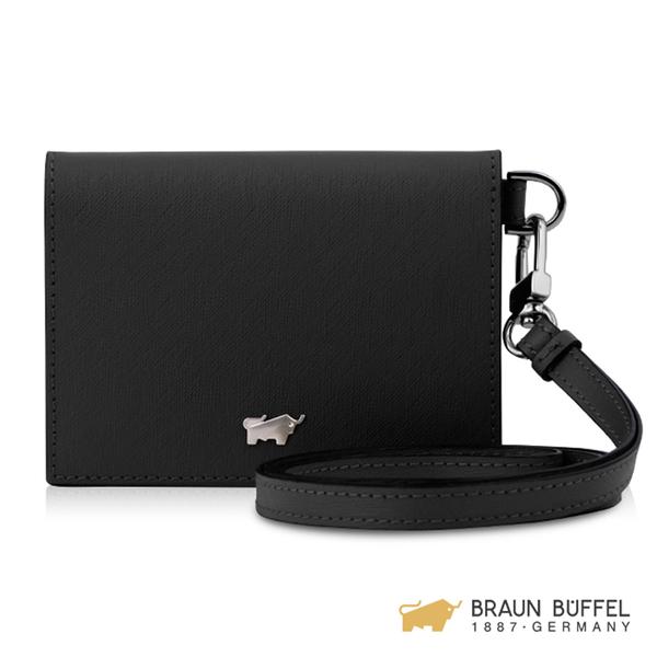 【BRAUN BUFFEL】美莉莎-III系列證件夾 -黑色 BF651-107-BK