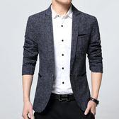 西裝外套男秋季男士休閒西服韓版修身小西裝外套男加厚便西潮加絨單西男上衣  凱斯盾數位3c