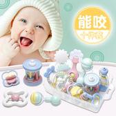 嬰兒搖鈴牙膠手搖鈴寶寶新生嬰兒玩具0-3-6-12個月幼兒0-1歲益智MJBL