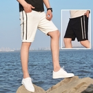 FINDSENSE H1日本 四季款 新款 潮男 簡約 黑白牛仔五分褲 彈力修身