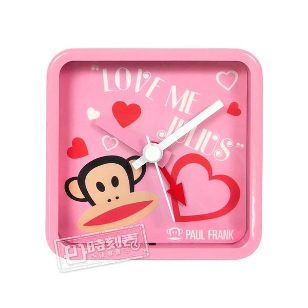 PAUL FRANK 大嘴猴 潮流時尚 方形指針鬧鐘-粉框粉面