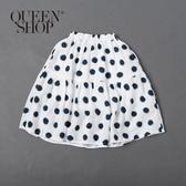 Queen Shop【03020638】童裝 親子系列經典點點蛋糕裙 S/M/L*現+預*