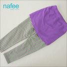 假兩件紫色條紋褲裙