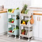 廚房置物架落地多層菜籃子玩具零食收納架水...