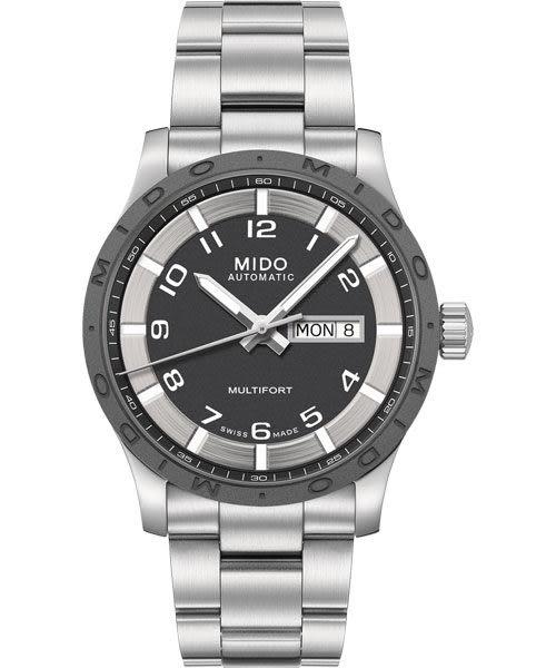 MIDO 美度 Multifort 先鋒系列時尚機械手錶-灰x銀 M0184301106200