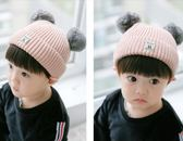 秋冬寶寶兒童加厚毛線0-3歲韓版潮針織帽子xx9989【每日三C】