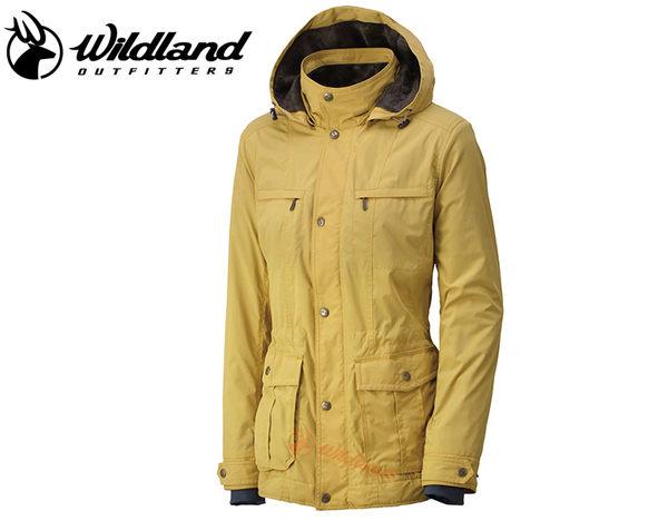 丹大戶外【Wildland】荒野 女款絲絨裡防風保暖外套 0A32907-33 駱黃色