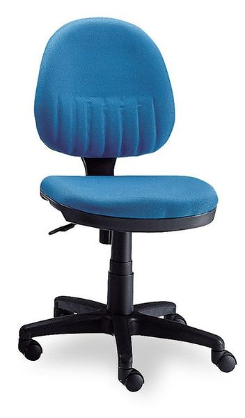 HY-Y186-11  電腦椅(藍布/PU泡棉)