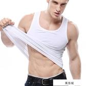 男士純棉運動背心夏季透氣彈力打底衫潮健美修身工字背心大碼上衣 萬客城