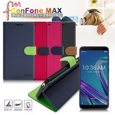 【台灣製造】FOCUS for ZenFone MAX Pro ZB602KL/ZB601KL 糖果繽紛支架側翻皮套 - 黑 / 桃 / 紅 / 藍