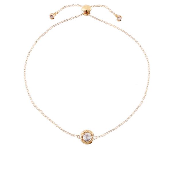 【COACH】水鑽圓圈可調節手環(金色) F67072 GLD