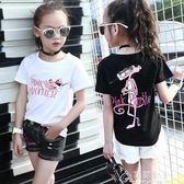 女童短袖t恤女孩中大童兒童新款上衣體恤夏季純棉半袖夏裝白t花間公主