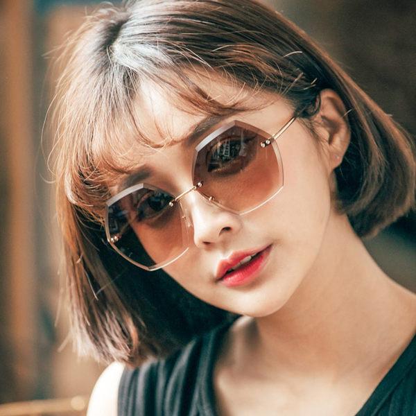 ASLLY濾藍光眼鏡-浪漫的不在場證明/六角形幾何設計款墨鏡