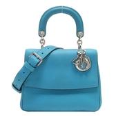 Dior 迪奧 藍色牛皮翻蓋手提肩背2way包 Be Dior Flap Bag 【BRAND OFF】