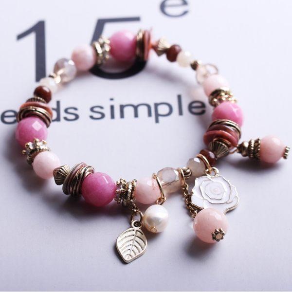 潘朵拉風格唯美白薔薇經典 串珠 手鍊