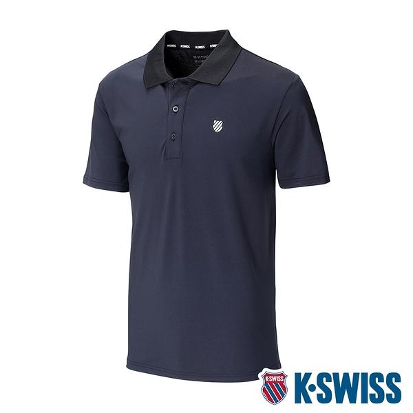 K-SWISS Mesh Panel Polo排汗Polo衫-男-黑