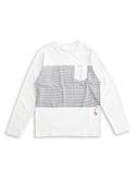 BOBSON 男款合身版印圖長袖上衣(白34027-80)
