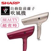 送美妝鏡★SHARP夏普★ 自動除菌離子速乾吹風機 IB-GP9T-N / IB-GP9T-R