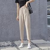 新款冰絲運動褲寬鬆夏季薄款休閒九分防蚊哈倫棉麻亞麻褲子女 艾瑞斯居家生活