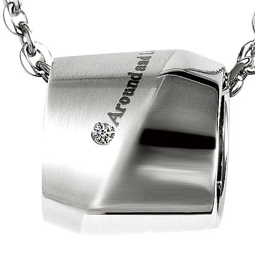 K'or蔻兒 時尚風采 0.01克拉鑽石 白鋼男項鍊