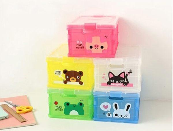 收納箱(小號) 收納盒 掀蓋整理箱 動物收納盒 可折疊收納箱 儲物盒 【D9001】