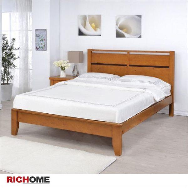 【RICHOME】專人到府  歐風造型床架《艾得雙人床》雙人床架/單人床架/床墊/