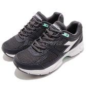 DIADORA 慢跑鞋 Shape 8 黑 白 高透氣網布 吸震 EVA中底 基本款 運動鞋 女鞋【PUMP306】 DA172074C0641