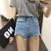 超短褲款夏裝學生撕邊流蘇性感牛仔褲熱褲女