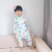 睡袋夏空調房連身衣春秋薄款寶寶分腿兒童睡衣防踢被 限時8折