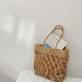 草編包 小紅書同款野餐籃子草編包韓國ins包包編織包手提包新款側背 伊蘿