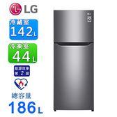 LG樂金186公升Smart 變頻上下門冰箱/ 精緻銀 GN-I235DS~含拆箱定位
