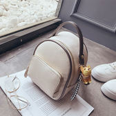 後背包 雙肩包女韓版2018新款百搭撞色小背包時尚多用休閒旅行仙女小包包 2色
