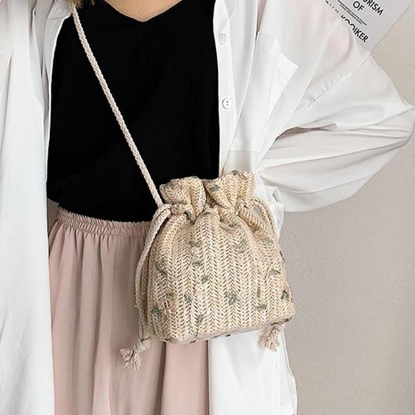 ins包包女仙女水桶包小包包女新款森系鏈條包單肩斜挎包女包