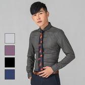 男 設計款/細直紋/長袖襯衫 L AME CHIC 對格細條雪花長袖襯衫【FTLS072001】
