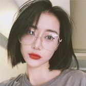 眼鏡框女網紅款韓版潮多邊形大框平光鏡素顏眼睛框鏡架女近視眼鏡優品匯