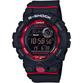 CASIO 卡西歐 G-SHOCK 藍芽運動手錶-紅黑 GBD-800-1 / GBD-800-1DR
