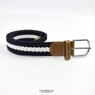 皮帶 簡約雙色編織帆布腰帶NK170