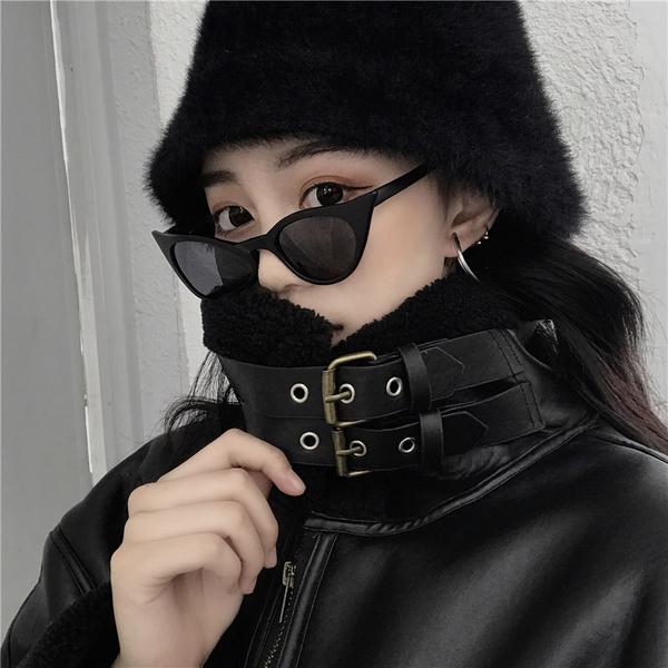 絕版出清 韓國風復古仿羊羔毛皮衣一體保暖單品外套