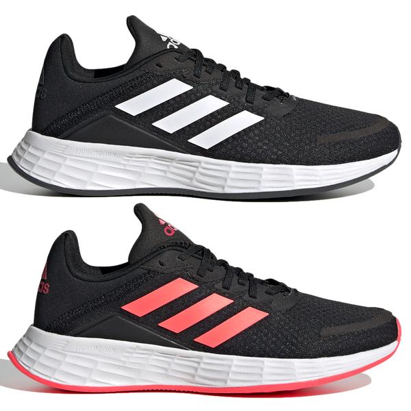 【現貨】Adidas DURAMO SL 女鞋 大童 慢跑 休閒 柔軟 緩震 黑/黑橘紅【運動世界】FX7307 / FX7301