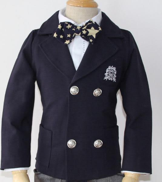 ♥ 俏魔女美人館 ♥ 韓版春秋款童裝男童英倫學院花童禮服兒童西裝 單純西裝