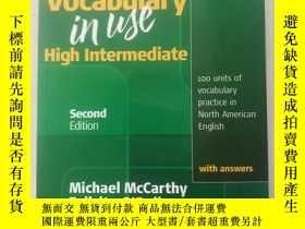 二手書博民逛書店vocabulary罕見inuse high intermediateY163994 second 出版2