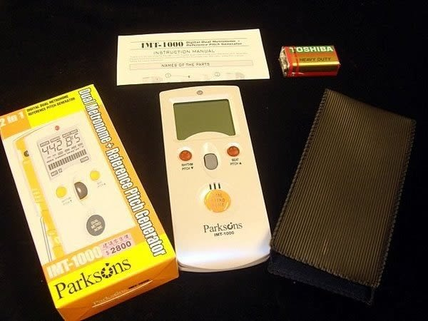 【金聲樂器廣場】Parksons IMT-1000 韓國製 2合1 節拍器 附保護套