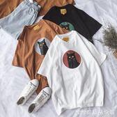 情侶裝夏裝新款韓版原宿bf風短袖T恤女學生寬鬆半袖上衣班服 糖糖日系森女屋