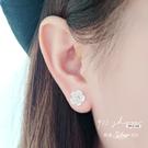 Favour.925純銀立體貝紋櫻花玫瑰...