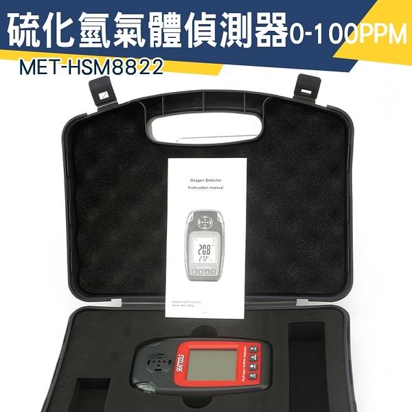 「儀特汽修」硫化氫檢測器 氫硫化物濃度檢測儀 氣體檢測儀 工廠直銷  氣體偵測器 MET-HSM8822